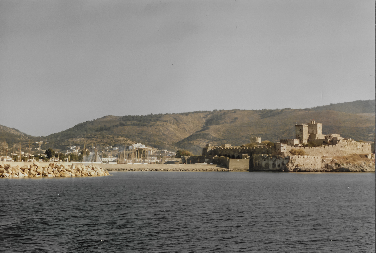 Nov 1987 Bodrum Fort from the Ferry